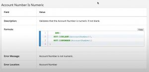 validation rules in salesforce